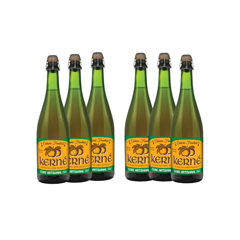 Lot de 6 - Cidre Brut artisanal 75cl x6