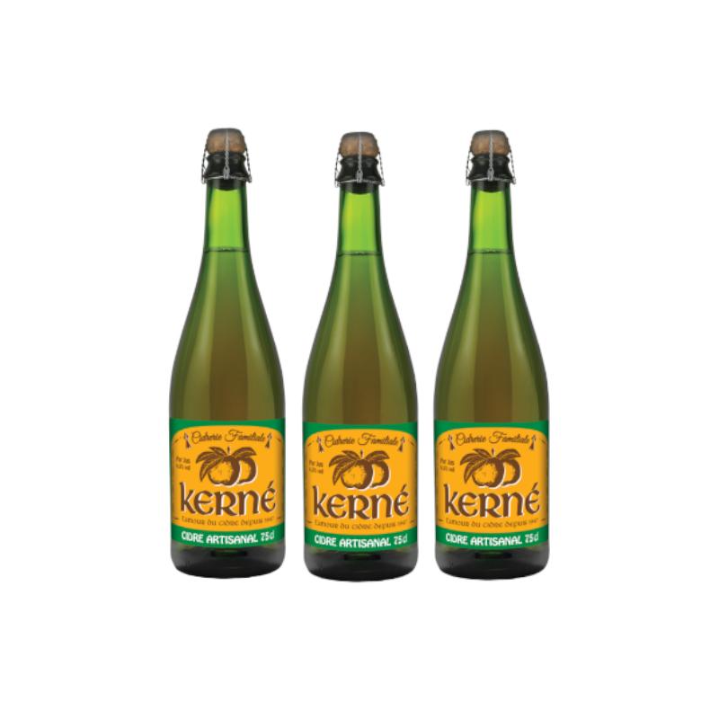 Lot de 3 - Cidre Brut artisanal 75 cl x3