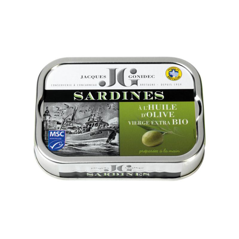 Sardines à l'huile d'olive vierge extra BIO - 115g