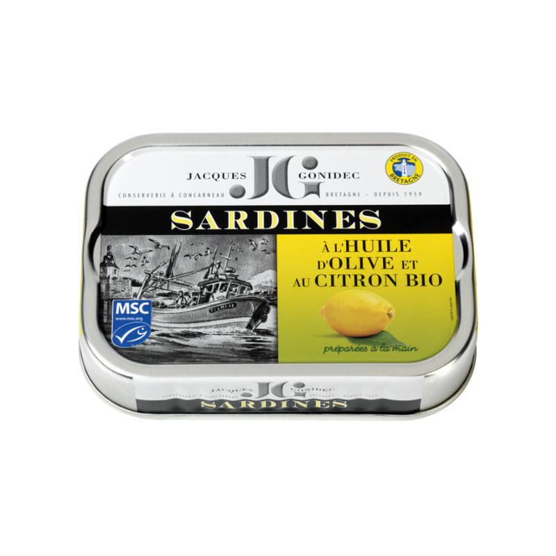 Sardines au citron et à l'huile d'olive vierge extra BIO - 115g