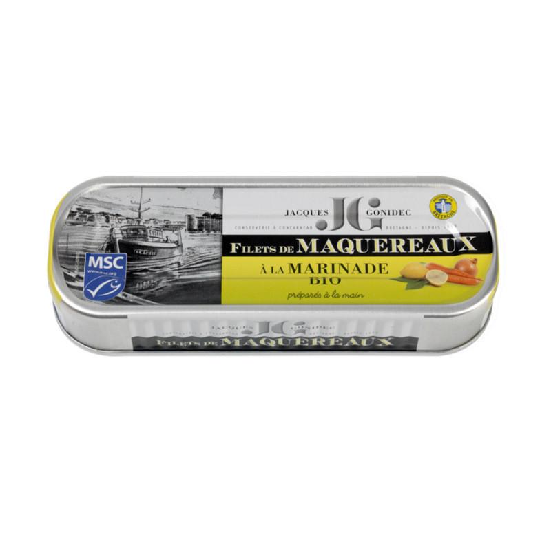 Filets de maquereaux à la marinade BIO - 176g