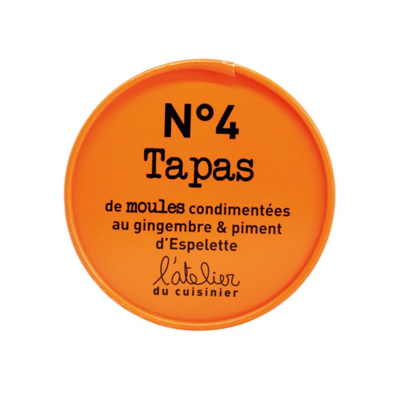 N°4 Tapas de moules au gingembre et piment d'Espelette - 100g