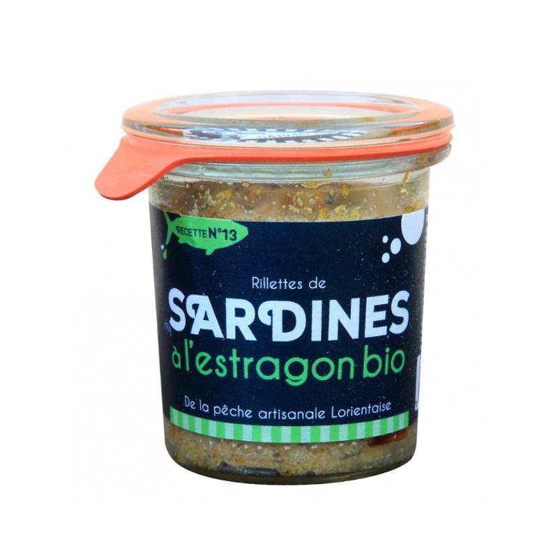 Rillettes de sardines à l'estragon BIO - 100g