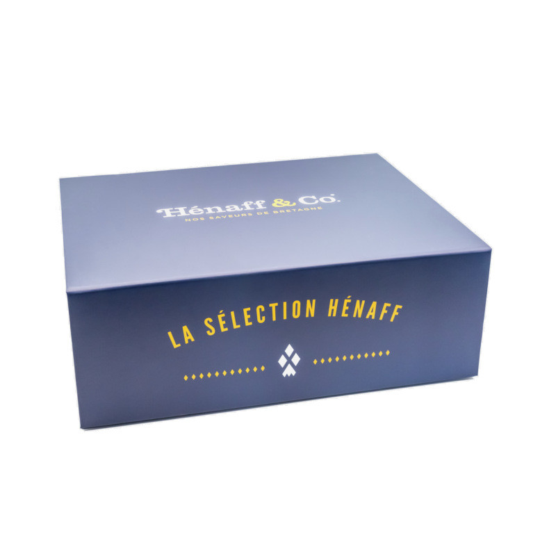 Belle boite cadeau Hénaff Sélection, petit format, à garnir