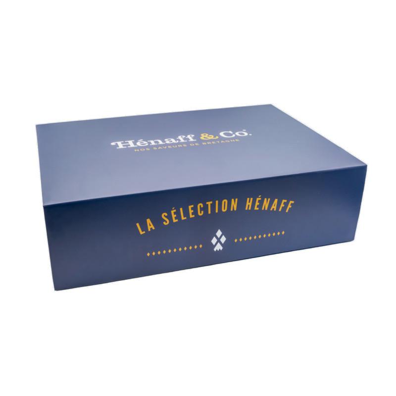 Belle boite cadeau Hénaff Sélection, grand format, à garnir