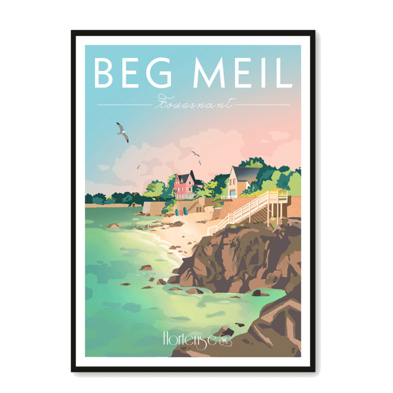 Affiche Beg Meil - Fouesnant