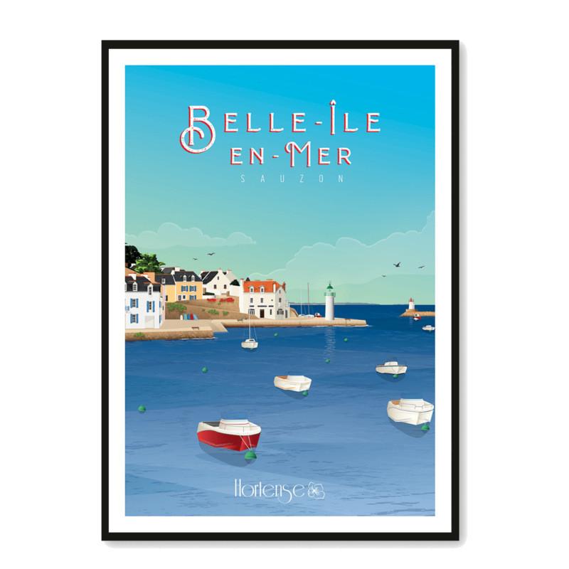 Affiche Sauzon Belle-Ile-en-Mer