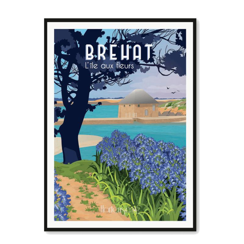 Affiche Bréhat l'Ile aux Fleurs