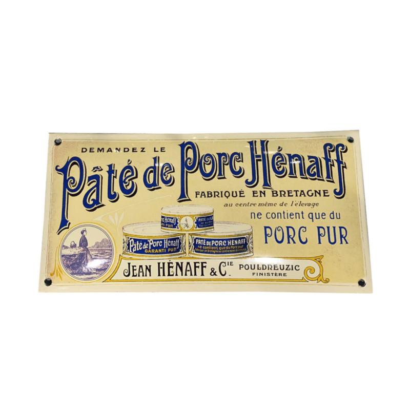 Plaque émaillée, modèle 1919