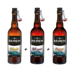 Lot de 3 bières BIO Ar-Men