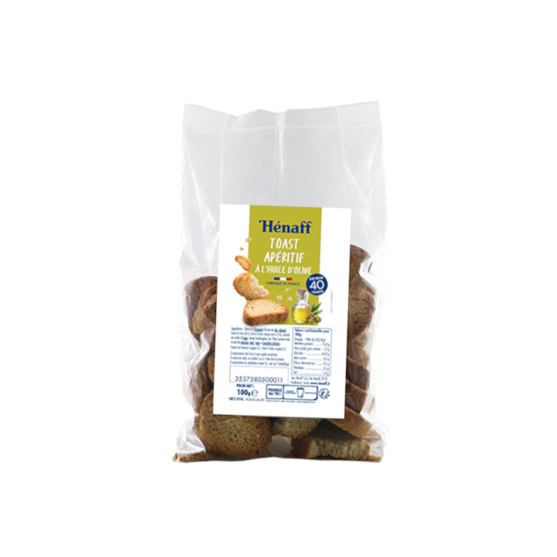 Toasts huile d'olive - 100g