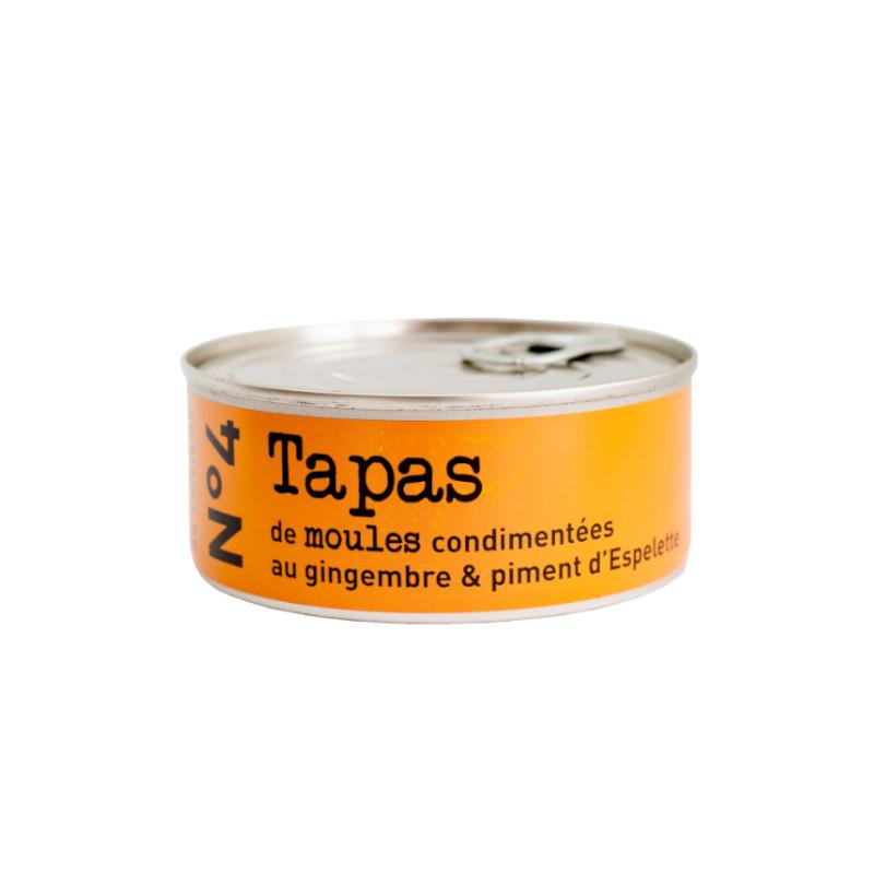 N°4 Tapas de moules condimentées au gingembre & piment d'Espelette - 215g