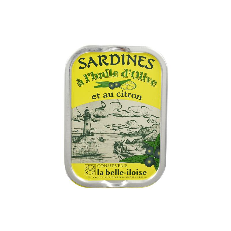 Sardines à l'huile d'olive et au citron  115g