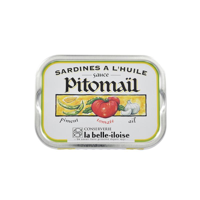 Sardines à l'huile, sauce Pitomaïl  115 g