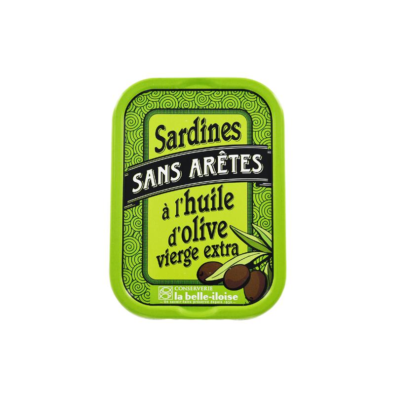 Sardines sans arêtes à l'huile d'olive vierge extra 115 g